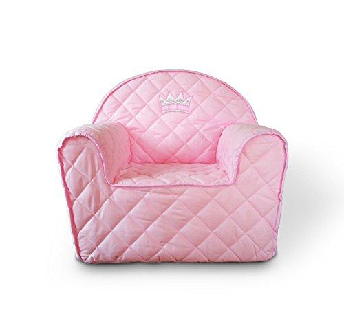BS Krone rosa Kindersessel Sessel Kinder Kindersofa Minisofa Kinder Sofa Prinzessin (11_rosa)