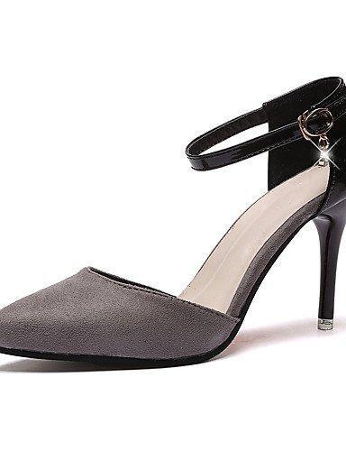 WSS 2016 Chaussures de mariage-Noir / Rouge / Gris / Vert foncé-Mariage-Bout Pointu-Chaussures à Talons-Homme 3in-3 3/4in-red