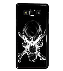 PrintDhaba Skull D-2343 Back Case Cover for SAMSUNG GALAXY A7 (Multi-Coloured)