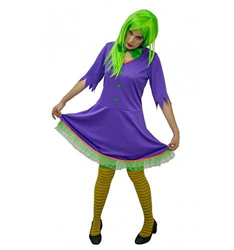 Joker comic frau kostüm inspiriert (Erwachsene) - (Joker's Frau Kostüm)
