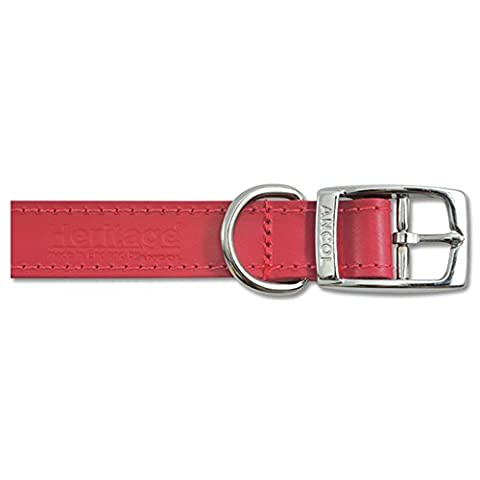 Ancol Pet Products Heritage Buckle Up Leather Dog Collar (28-36cm