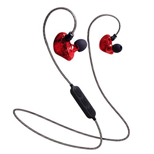 Yowablo Hängender Hals Bluetooth Sport Kopfhörer Metall Ohr Muschel Super Gute Klangqualität ( rot )