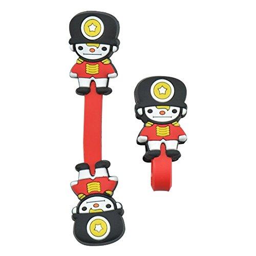 Engdash Button-Type Weichen Kunststoff Kabel Organizer Aufziehen Clip Ein Paar Black Hat Soldier 2.5x8cm