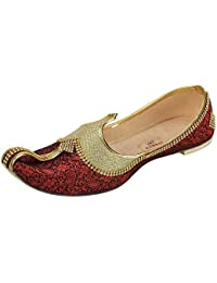 f21d6c61551 Amazon.in  Red - Ethnic Footwear   Men s Shoes  Shoes   Handbags
