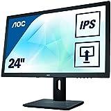 AOC I2475PXQU 60,5 cm (23,8 Zoll) Monitor (VGA, DVI, HDMI, USB, 4ms Reaktionszeit, DisplayPort, 1920 x 1080, 60 Hz, Pivot) schwarz