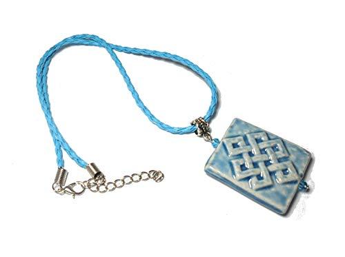 PANDORESECRETS Collier - Raku Perle Céramique - 35 MM. - Bleu