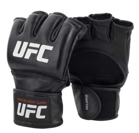 UFC Herren Official Pro Fight Glove MMA-Handschuhe, Black/White, M