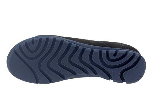 Scarpe donna comfort pelle Piesanto 7525 cordoncino casual comfort larghezza speciale Negro