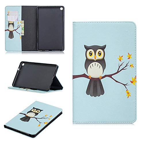 SWMGO® 3D Relief Muster Flip Brieftasche Hülle für Samsung Galaxy Tab A 8 2019/Samsung Galaxy Tab A Plus 8 (Muster 3) - Funda 3 Samsung 8 Tab