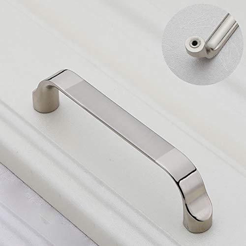 CYYDBB Türgriff Moderne Einfachheit Türdrücker Zinklegierungsplattierung Türgriffe Geeignet Für Schubladenschrank Schreibtisch Schuhschrank Computer Schreibtisch Schrank(2 Stück),1,M -