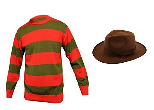 Adult Halloween Horror Costume Jumper and hat