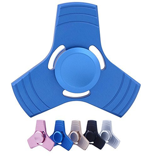 Spinner Fidget Toy, Shinemark Spinner Mano Juguete alivia el estrés y la ansiedad y relajarse Tri Fidget Hand Spinner Toy Perfecto para niños y adultos (Azul Ardiente)