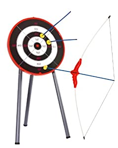 Hudora 78115 - Juego de arco, flechas y diana Importado de Alemania