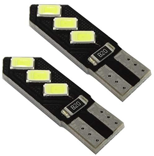 AERZETIX: 2X Ampoule T10 W5W 12V 6LED SMD Blanc Effet xénon veilleuses éclairage intérieur seuils de Porte plafonnier Pieds Lecteur de Carte Coffre Compartiment Moteur Plaque d'immatriculation C41080