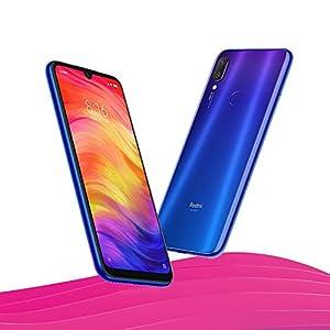Xiaomi Redmi Note 7 Smartphones de 6.3'' pantalla completa, 3GB RAM + 32GB ROM, Snapdragon 660 procesador Octa-core, 13MP delantero y 48MP + 5MP doble cámara trasera Teléfonos móviles (Degradado Azul)