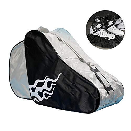 Kreativität Eislaufen Tasche, Roller Skate Bag, Skate-Tasche, atmungsaktiv für Kinder und Erwachsene zu Speichern Skates (Schwarz)