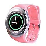 BZLine® Bluetooth Smartwatch Uhr Intelligente Armbanduhr Kompatibel mit Samsung, Apple iPhone, Huawei, Sony, LG, HTC, Lenovo, ZTE and Other Cellphones (Rosa)