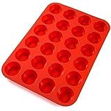 Faneli Mini Muffin Cup Cake stampo in silicone 24tazza GR??E, Stampo per muffin Rosso