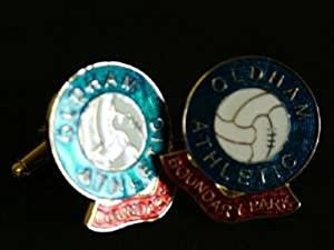 Oldham Athletic 'Boundary Park' Football Club Cufflinks