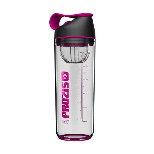 Prozis Neo Mixer Bottle Crystal 600ml - French Fuchsia Protein Shaker mit Innenmixbehälter : Stoßfest, ohne BPA, geruchsbeständig und zu 100% recycelbar