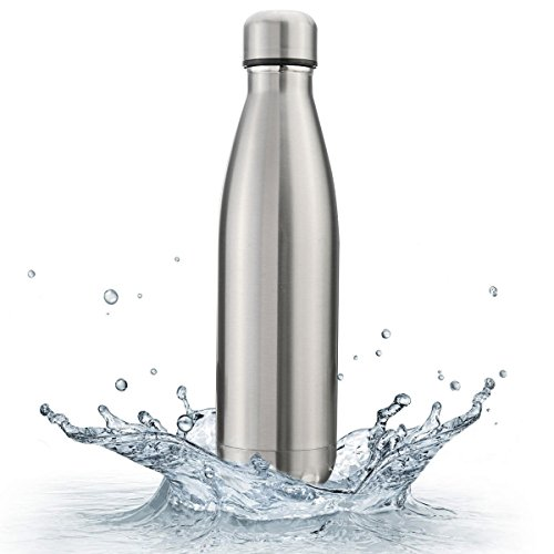 Pexpo Electro 750ml Plain Matt Grey Vacuum Hot And Cold Stainless Steel Water Bottle Keeps Drinks...