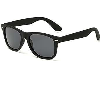 EliBella Retro Damen und Herren Polarisierte UV400 Schutz Sonnenbrille EL2140 (Black, 52)