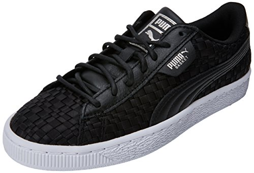 Puma Damen Basket Satin EP WN's Sneaker, Schwarz Black White, 42.5 EU Satin-tab