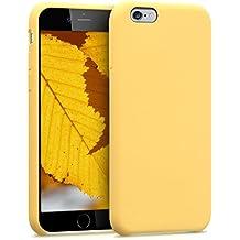 kwmobile Funda para Apple iPhone 6 / 6S - Case para móvil de TPU silicona - Cover trasero en amarillo mate