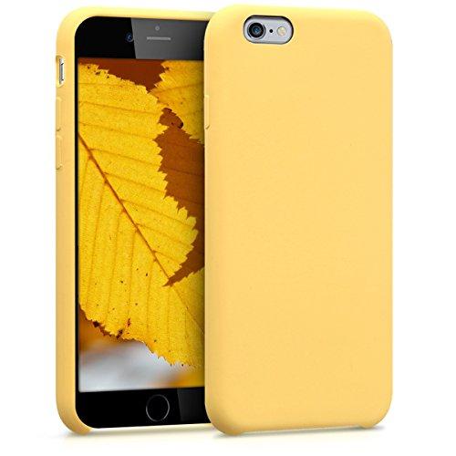 kwmobile Funda para Apple iPhone 6/6S - Case para Móvil de TPU Silicona - Cover Trasero en Amarillo Mate