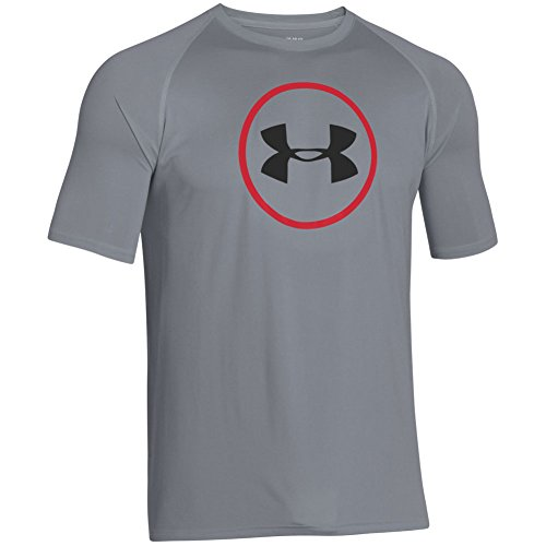 Under Armour Herren Top Core Training Logo Graphic, Steel, XL - Under Armour Graphic T-shirt Baseball
