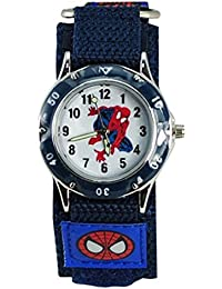 Thalia Sagun - Reloj de muñeca infantil con diseño de Spiderman (resistente al agua, correa de velcro)