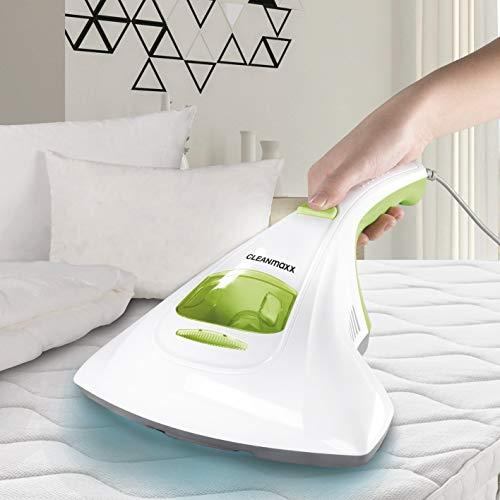 CLEANmaxx Aspirador de mano antiácaros con luz UV-C, 300vatios | Aspirador antiácaros, limpieza...