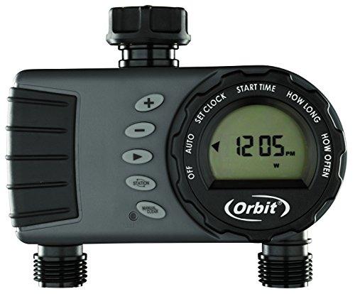 "Orbit 96782 S&M Programador de Grifo Digital Pantalla LCD- 2 Salidas-Hembra Ÿ\"" Ÿ\"", Gris/Negro, 5.5 x 23.5 x 24.5 cm"