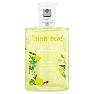 Bien Être - L'Herboriste, Eau Parfumée Dynamisante à l'Extrait de Cédrat - 75 ml