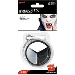 Unisex VAMPIRE MAKE UP GREY WHITE&BLACK HALLOWEEN SMIFFYS FANCY DRESS COSTUME (maquillaje/pintura de cara)