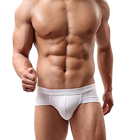 Swimwear Longra® Men's Simple Design More Color Trunks Underwear Briefs Shorts Boxer Bulge Pouch Soft Underpants , Comfortable ,Cool (XXL, White)