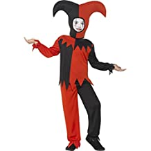 Smiffy 's Hombres de Halloween disfraz de bufón trenzado (tamaño mediano)