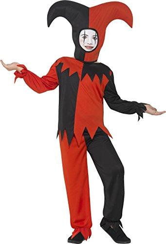 Smiffys 45483M - Kinder Jungen Twisted Narren Kostüm, Oberteil, Hose und Hut, Alter: 7-9 Jahre, mehrfarbig (8 Kleidung Crazy)