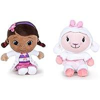 Dra juguetes - Pack 2 peluches Calidad super soft - Doctora juguetes 16cm + Oveja 16cm