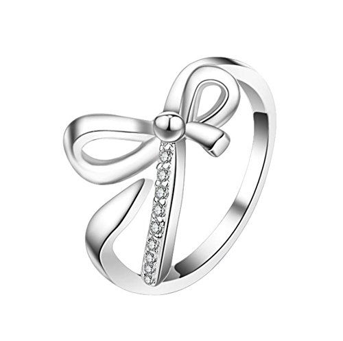 Dosige Mode Verstellbarer Damen-ring Verlobungs-ring Freundschaftsring Ring Partnerring Edelstahl Ringe Diamantbesetzt - Mode-verlobungsringe