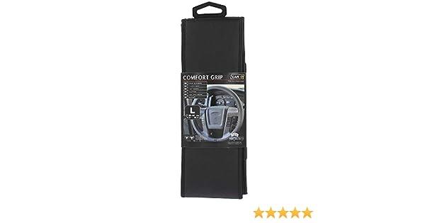 HABILL-AUTO Lot de 6 Couvre-Volant Comfort Grip Micro-PERFORE Noir SURP.Noire L 39-40CM