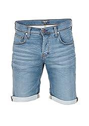 MUSTANG Herren Chicago Shorts, Blau (Super Bleach 019), W34