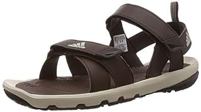 adidas Men's Kerio Syn 2.0 Dark Brown, Black and Beige Athletic & Outdoor Sandals - 12 UK