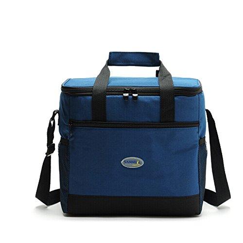 16l grande borsa termica isolato picnic lunchbox pranzo al sacco fredda borsa con tracolla per uomini e donne ( colore : blu navy )