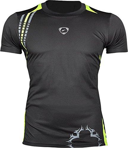 Jeansian-Hombres-Deportes-Wicking-Transpirable-Quick-dry-Manga-Corta-Camisetas-Tee-Tops-Running-Training-LSL1052