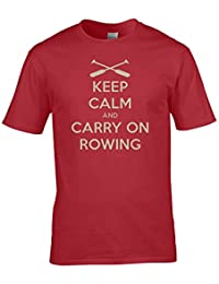 Keep Calm and Carry On Rowing boat race war poster parody Men's T-Shirt