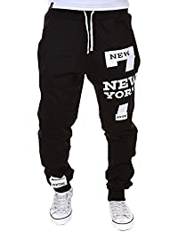 Sanwood Men Jogger Dance Sportwear Baggy Casual Pants Trousers
