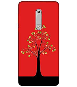 For Nokia 5 Tree of love, tree Printed Cell Phone Cases, nature Mobile Phone Cases ( Cell Phone Accessories ), wild Designer Art Pouch Pouches Covers, girl Customized Cases & Covers, beautiful Smart Phone Covers , Phone Back Case Covers By Cover Dunia