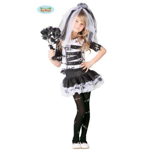 (Monster Braut Kostüm für Mädchen Gr. 98 - 146, Größe:140/146)