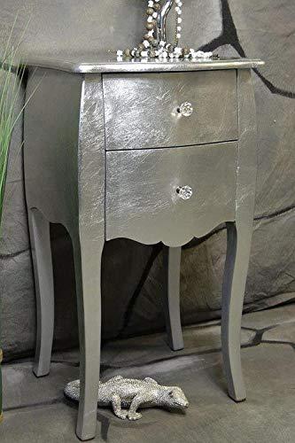 Livitat® Kommode mit 2 Schubladen Pomp Silber barock antik pompös Landhaus LV2012